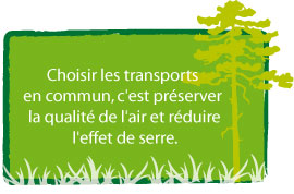 Environnement : message d'incitation transport en commun